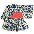 【1点までゆうパケット可】 Ocean&Ground オーシャンアンドグラウンド 浴衣ワンピース 女児 FLORAL&BLOOMING ブルー