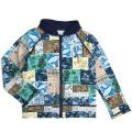 【1点までゆうパケット可】 Ocean&Ground オーシャンアンドグラウンド ラッシュガード 男児 パッチワーク ブルー