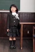 【送料無料】スカートスーツ(ブラック)フォーマル5点セット 子供フォーマル トドラー 女の子 N-Girl