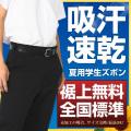 学生服 ズボン 夏用 ポリエステル95%綿5% (帯付・ノータック・斜めポケット・W88cm以上)【ゆうメール対応】