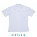 スクールシャツ 半袖 開襟 片ポケ|ノーアイロン 白 B体|150B-190B