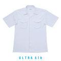 スクールシャツ 半袖 開襟 両ポケ|ノーアイロン 白 B体|150B-190B