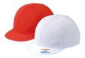 ツイル 紅白体操帽 六方型(アゴゴム付)赤白帽 紅白帽