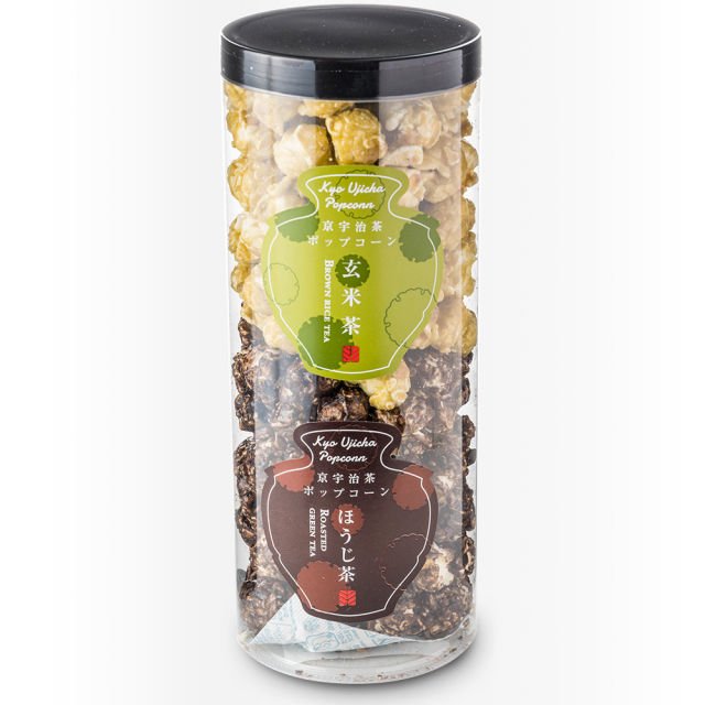 【ご自宅用お買得品】【化粧箱なし】京都宇治茶ポップコーンショート(ほうじ茶・玄米茶)