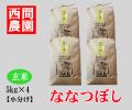ななつぼし玄米5キロ×4