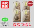 ななつぼし玄米5キロ×4定期配送