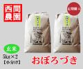 おぼろづき玄米10キロ小分け定期配送