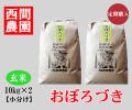 おぼろづき玄米20キロ小分け定期配送