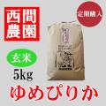 ゆめぴりか玄米5キロ定期配送
