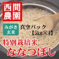 みがき玄米特別栽培米ななつぼし真空5kg×4