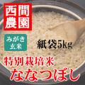 みがき玄米特別栽培米ななつぼし紙袋5kg