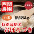 定期特別栽培米白米おぼろづき紙袋5kg