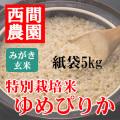 みがき玄米特別栽培米ゆめぴりか紙袋5kg