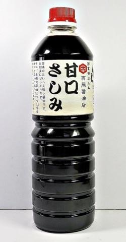 西岡醤油の甘口さしみ醤油1リットル