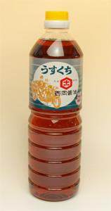 西岡醤油のうすくち醤油1リットル
