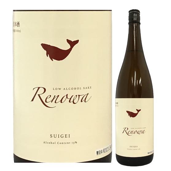 清酒 酔鯨酒造 純米酒 れのわ 1800ml