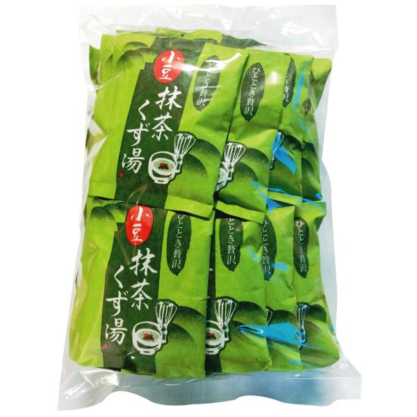 【20%オフ価格】徳用 小豆抹茶くず湯16g×30袋【冬の特別SALE 通常1684円】