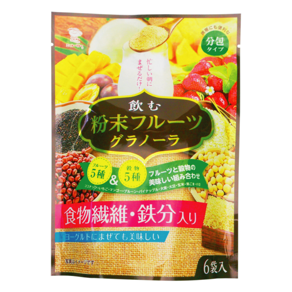 飲む 粉末 フルーツグラノーラ 11.5g×6袋 【8456】【4】