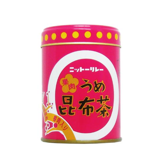 果肉うめ昆布茶 60g缶 【0610】