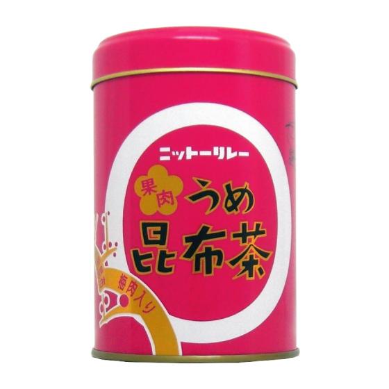 果肉うめ昆布茶 130g缶(65g×2袋) 【0611】