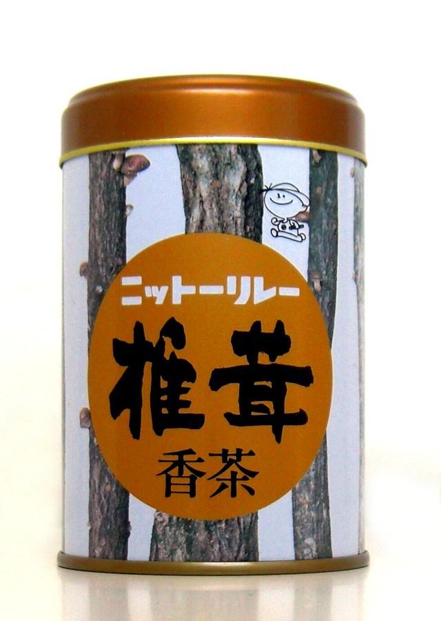 「椎茸香茶 100g缶」天然椎茸の上品は香りとまろやかな風味そのまま閉じ込めました。