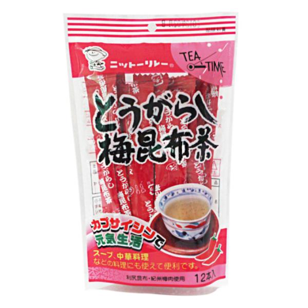 とうがらし梅昆布茶 2g×12本 【0551】【2】