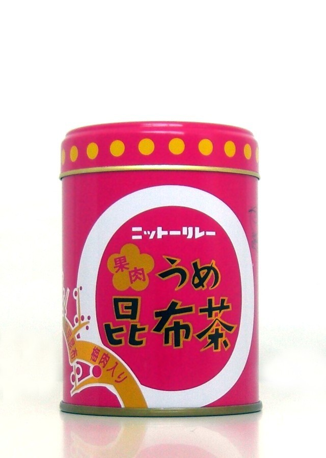 「果肉うめ昆布茶 60g缶」