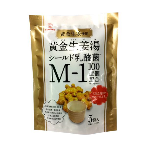 黄金生姜湯 シールド乳酸菌M-1配合 15g×5袋 【8090】【4】