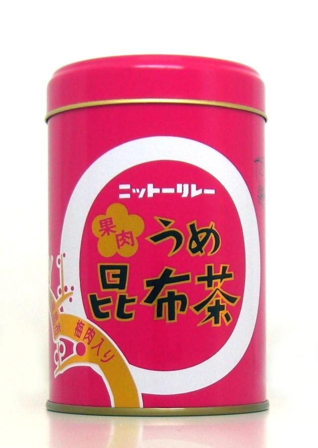 「果肉うめ昆布茶 130g缶(65g×2袋)」