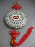 【送料込み】中国結・竹籠入りミントプーアル小沱茶60個(調味茶)