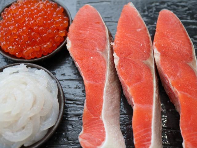 白えび、いくら、紅鮭 詰合せ