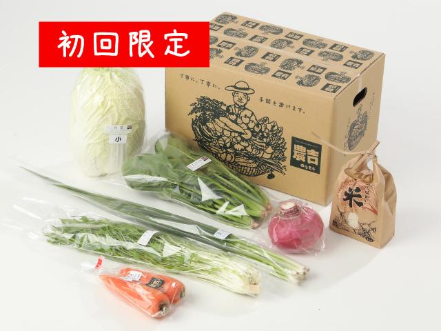 初回限定!農吉のお試し野菜セット+玄米1kg