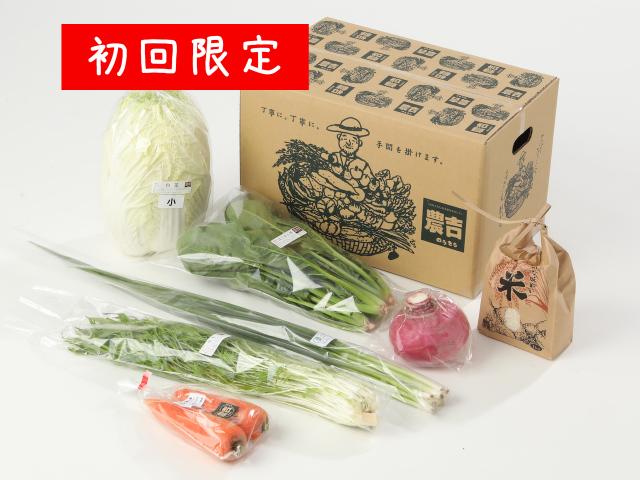 初回限定!農吉のお試し野菜セット+白米1kg