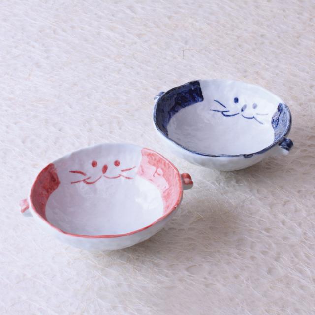 猫,食器,スープ,ペア,かわいい