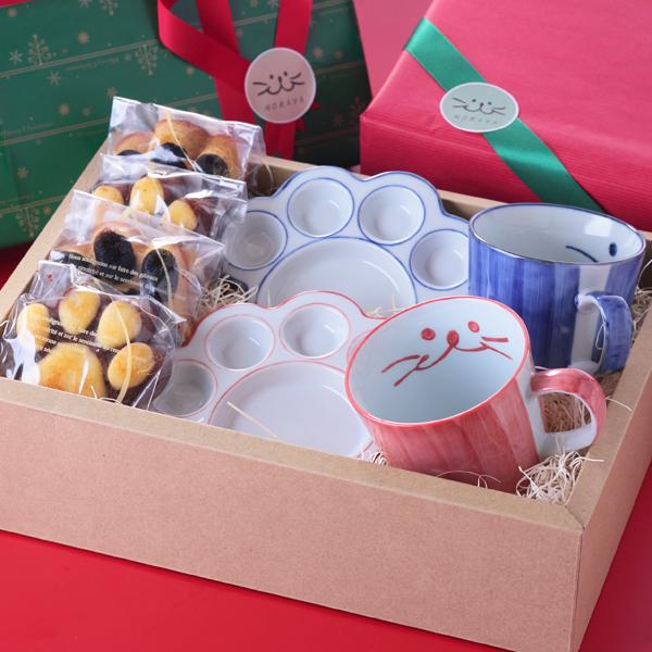 食器、猫、クリスマス、ギフト、マグカップ、にくきゅう