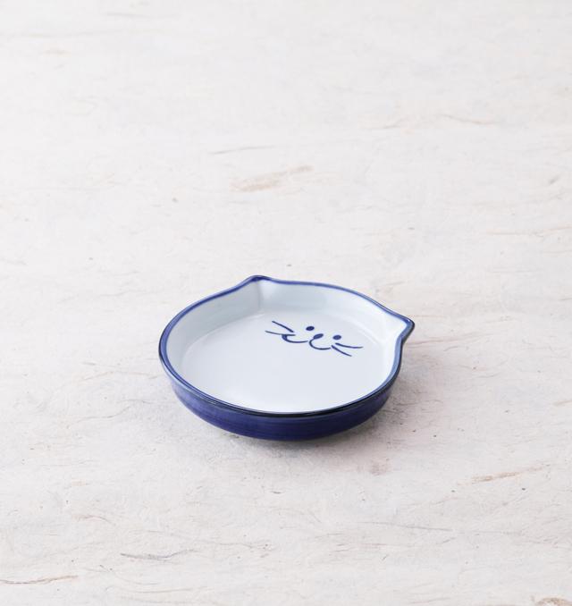 薬味皿 食器 猫 のらや 美濃焼 磁器 薬味