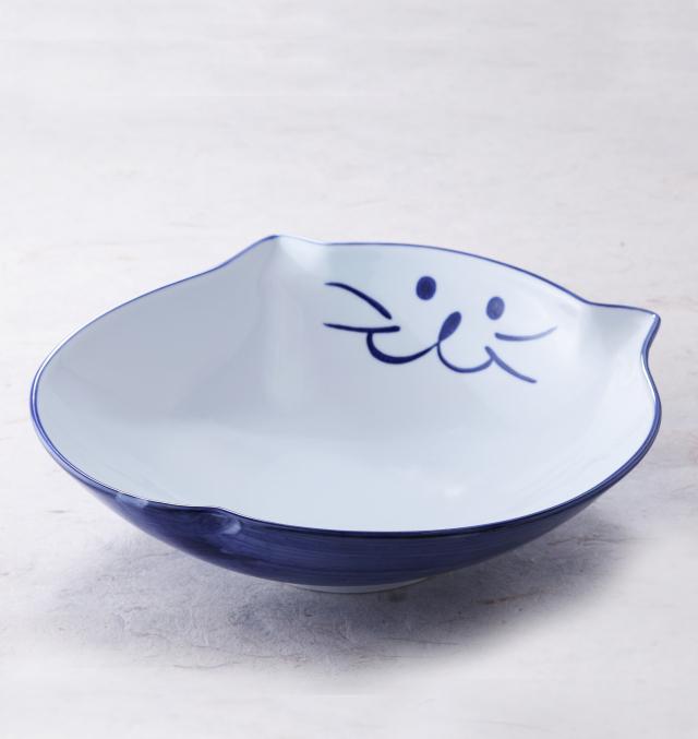大鉢 食器 猫 のらや うどん 美濃焼 磁器