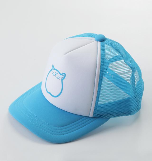 帽子 ブルー 猫 のらや キャップ 青
