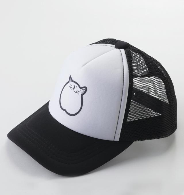 帽子 黒 ブラック 猫 キャップ のらや