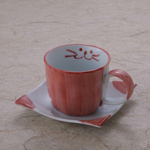 ピンクコーヒーカップセット