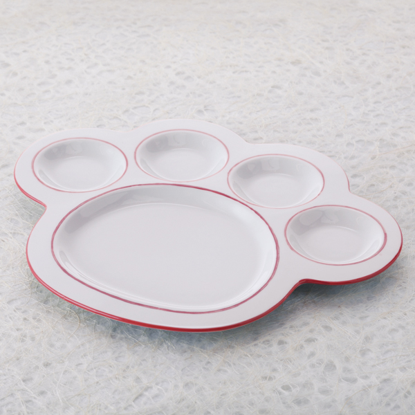 猫,食器,肉球,皿,プレート,こ大,ピンク