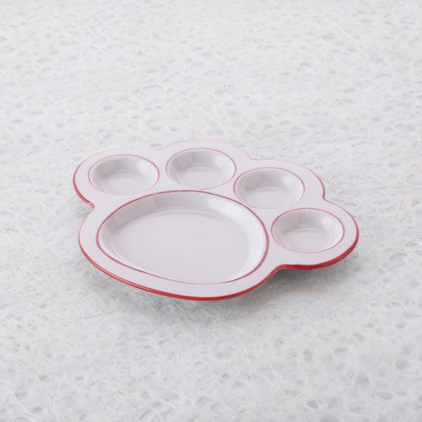 猫,食器,肉球,皿,プレート,こ中,ピンク
