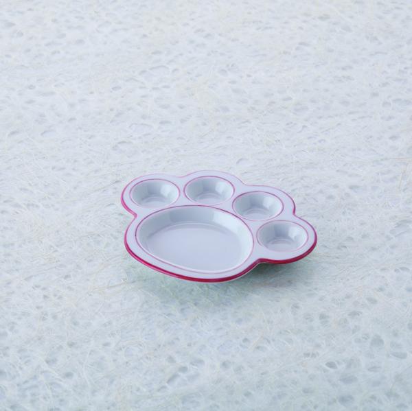 猫,食器,肉球,皿,プレート,小,ピンク