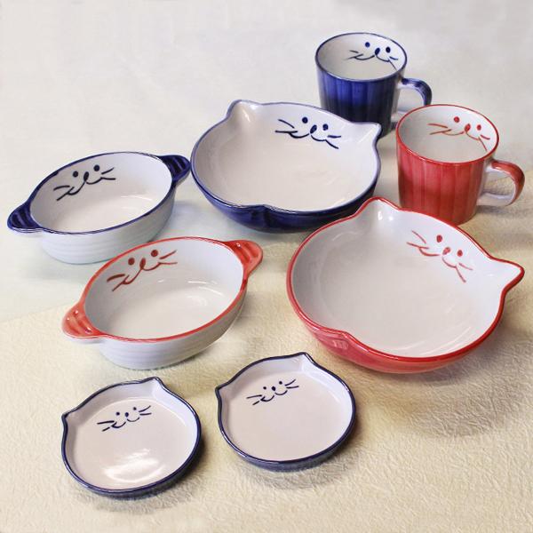 猫食器,かわいい,食器セット,ご飯茶碗,プレゼント用,贈り物,浅鉢,グラタン,マグカップ