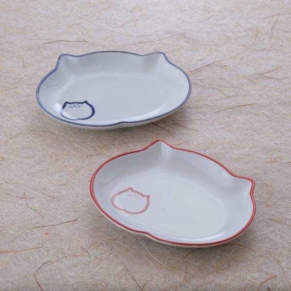 ペア楕円皿