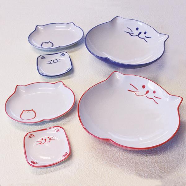食器セット,セット,中鉢ペア,楕円皿ペア,小皿ペア,猫食器
