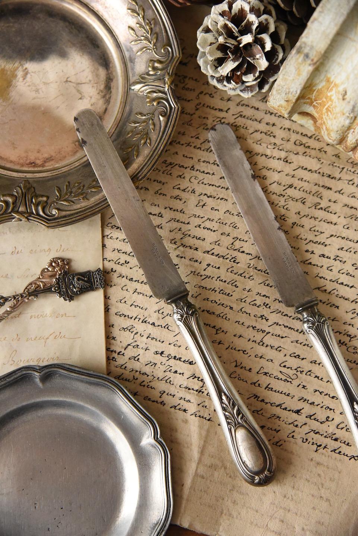 アンティーク シルバー ナイフ フランス
