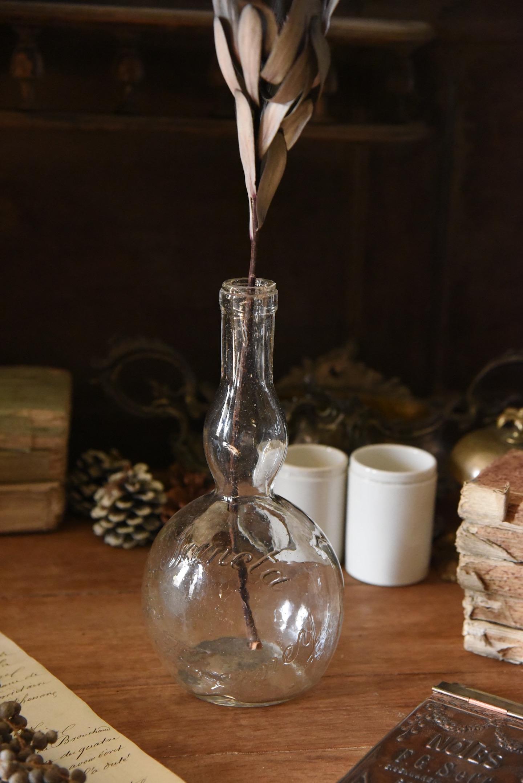 アンティーク ガラスボトル フレンチ 一輪挿し