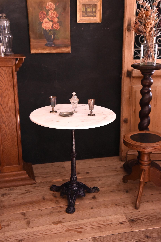 アンティーク ラウンド テーブル 大理石 フレンチ アイアン 鉄脚