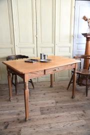 アンティーク 木製 ドロワー テーブル フレンチ ダイニング